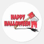 Horror del feliz Halloween Pegatina Redonda