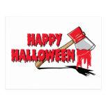 Horror del feliz Halloween Postal