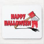 Horror del feliz Halloween Tapete De Raton
