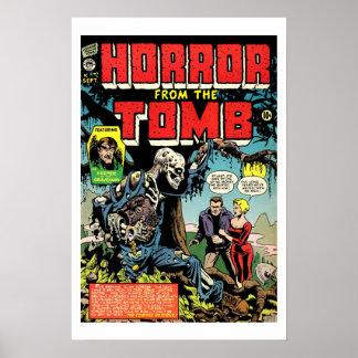Horror del poster de la cubierta de cómic del vint
