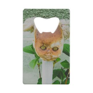 Horror doll head credit card bottle opener