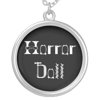 Horror Doll Silver Plated Necklace