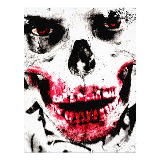 Horror espeluznante del hombre del zombi de la membrete personalizado