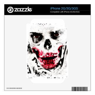 Horror espeluznante del hombre del zombi de la skins para iPhone 2G