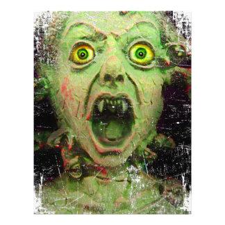 Horror espeluznante del verde del zombi del membretes personalizados
