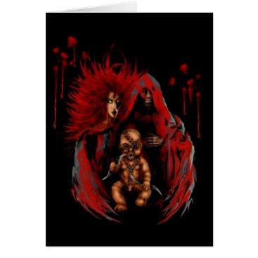Halloween Themed Horror Family Card