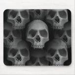 Horror fanged mal gótico de Halloween del cráneo Alfombrilla De Ratón