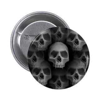 Horror fanged vampiro malvado gótico de Halloween  Pin Redondo 5 Cm