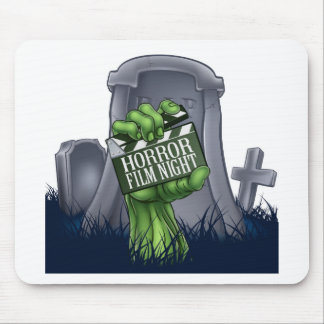 Horror Film Zombie or Monster Clapper Board Sign Mouse Pad