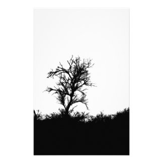 Horror Forrest. Scary Silhouette Custom Stationery