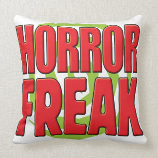 Horror Freak R Throw Pillow