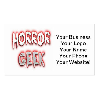 Horror Geek Red Business Card