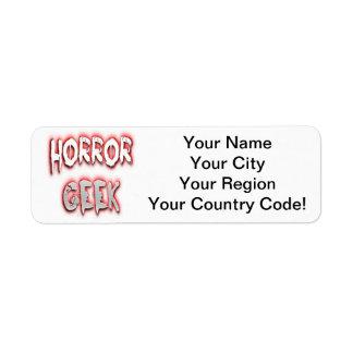 Horror Geek Red Return Address Label