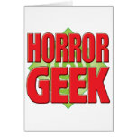 Horror Geek v2 Greeting Card
