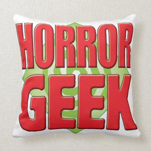 Horror Geek v2 Throw Pillows