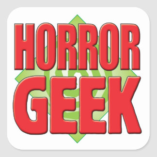 Horror Geek v2 Square Sticker