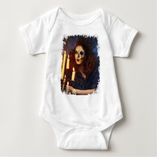 Horror Girl Candle Freak Creepy Horror Baby Bodysuit
