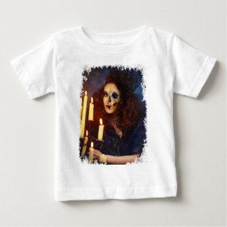 Horror Girl Candle Freak Creepy Horror Baby T-Shirt