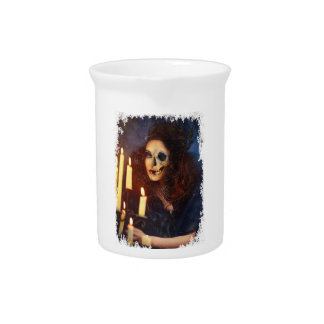 Horror Girl Candle Freak Creepy Horror Drink Pitchers