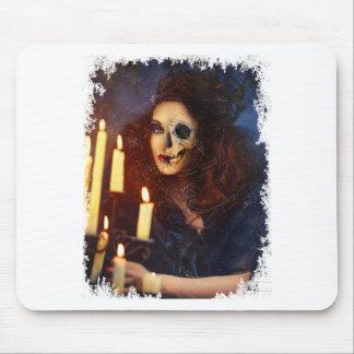 Horror Girl Candle Freak Creepy Horror Mouse Pad