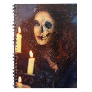 Horror Girl Candle Freak Creepy Horror Notebook