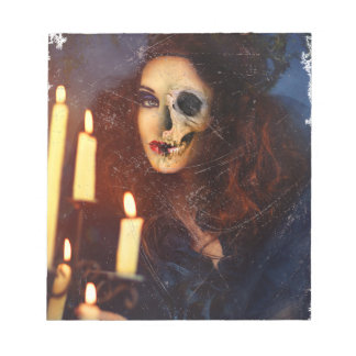 Horror Girl Candle Freak Creepy Horror Notepad