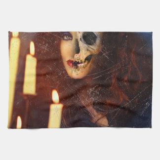 Horror Girl Candle Freak Creepy Horror Towel