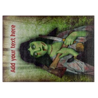 Horror gótico de Halloween del chica del zombi Tabla Para Cortar