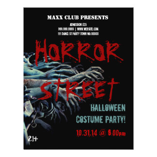 Horror Halloween Party Event Announcement Flyer