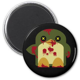 Horror horrible del zombi del pingüino de Kawaii Imán Redondo 5 Cm
