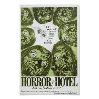 """""""Horror Hotel"""" or """"City of The Dead"""" Movie Poster"""