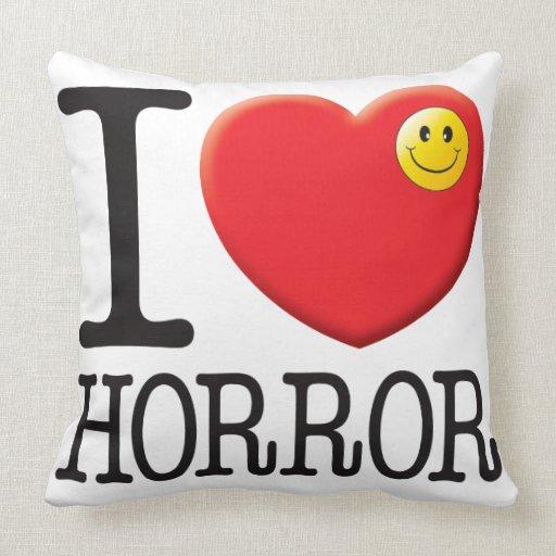 Horror Love Throw Pillow