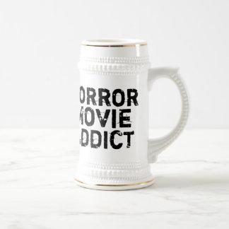 Horror Movie Addict Beer Stein Mugs