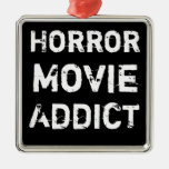 Horror Movie Addict Black Christmas Ornament