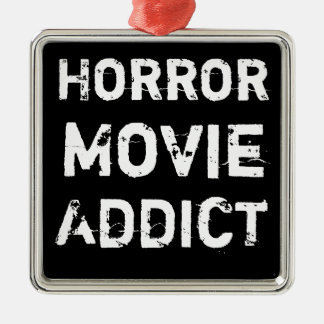 Horror Movie Addict Black Christmas Ornament