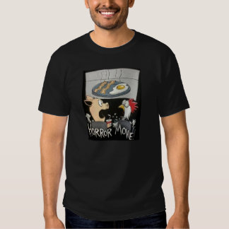 Horror Movie Chicken & Pig  Bacon and Eggs Tee Shirts
