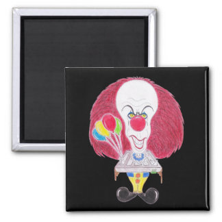 Horror Movie Clown Caricature Drawing Magnet Fridge Magnets