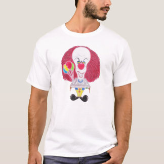 Horror Movie Clown Funny Caricature T-Shirt