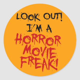 Horror Movie Freak Classic Round Sticker
