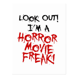 Horror Movie Freak Postcard