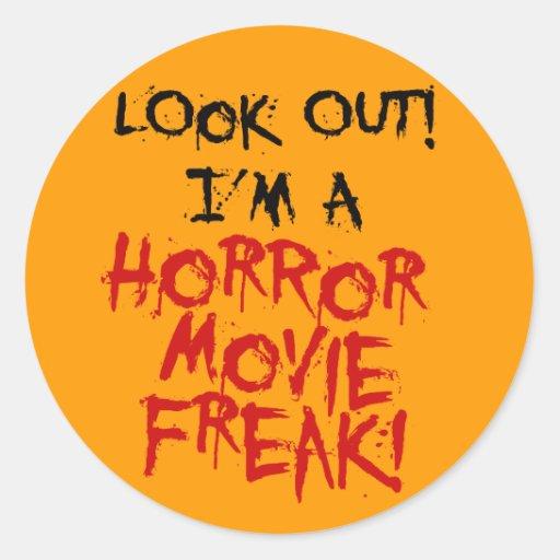 Horror Movie Freak Stickers