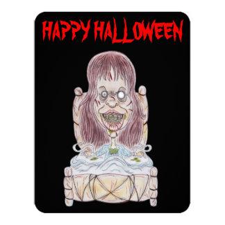 Horror Movie Happy Halloween Caricature Invitation