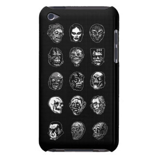 Horror Movie Monster Masks (b&w) Barely There iPod Case