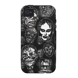 Horror Movie Monster Masks (b&w) iPhone 4/4S Cover