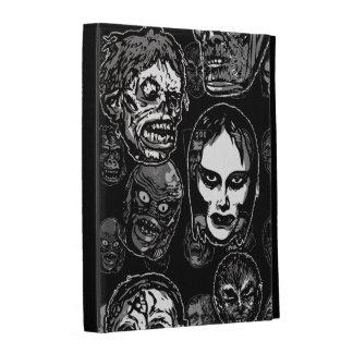 Horror Movie Monster Masks (b&w) iPad Folio Cover