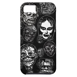 Horror Movie Monster Masks (b&w) iPhone 5 Cover