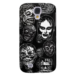 Horror Movie Monster Masks (b&w) Galaxy S4 Cover