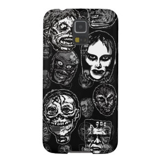 Horror Movie Monster Masks (b&w) Galaxy S5 Cover