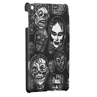 Horror Movie Monster Masks (b&w) iPad Mini Covers