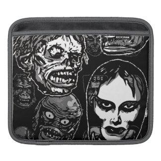 Horror Movie Monster Masks (b&w) Sleeve For iPads